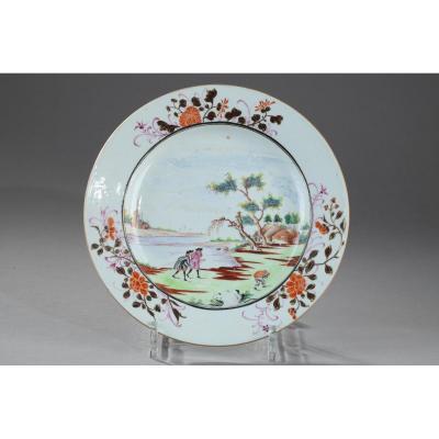 Assiette Porcelaine De Chine Période Qianlong (1736 - 1795)
