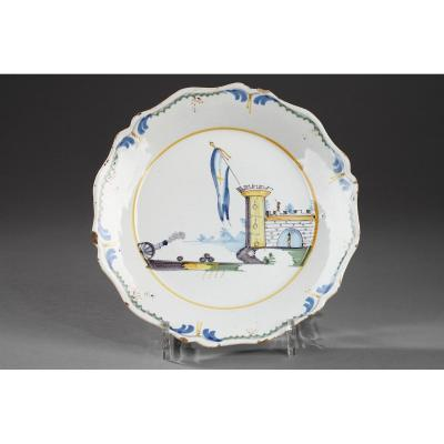 Earthenware Plate From Nevers Revolutionary Period