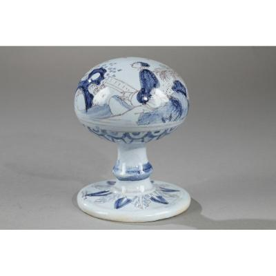 Wig Stand Nevers Faience Second Half Of The 17th Century