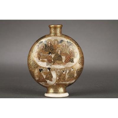 Japan Satsuma Small Vase Meiji Period 1868 - 1912