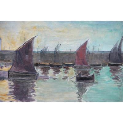 Belle-ile Around 1900 By A Finnish Painter