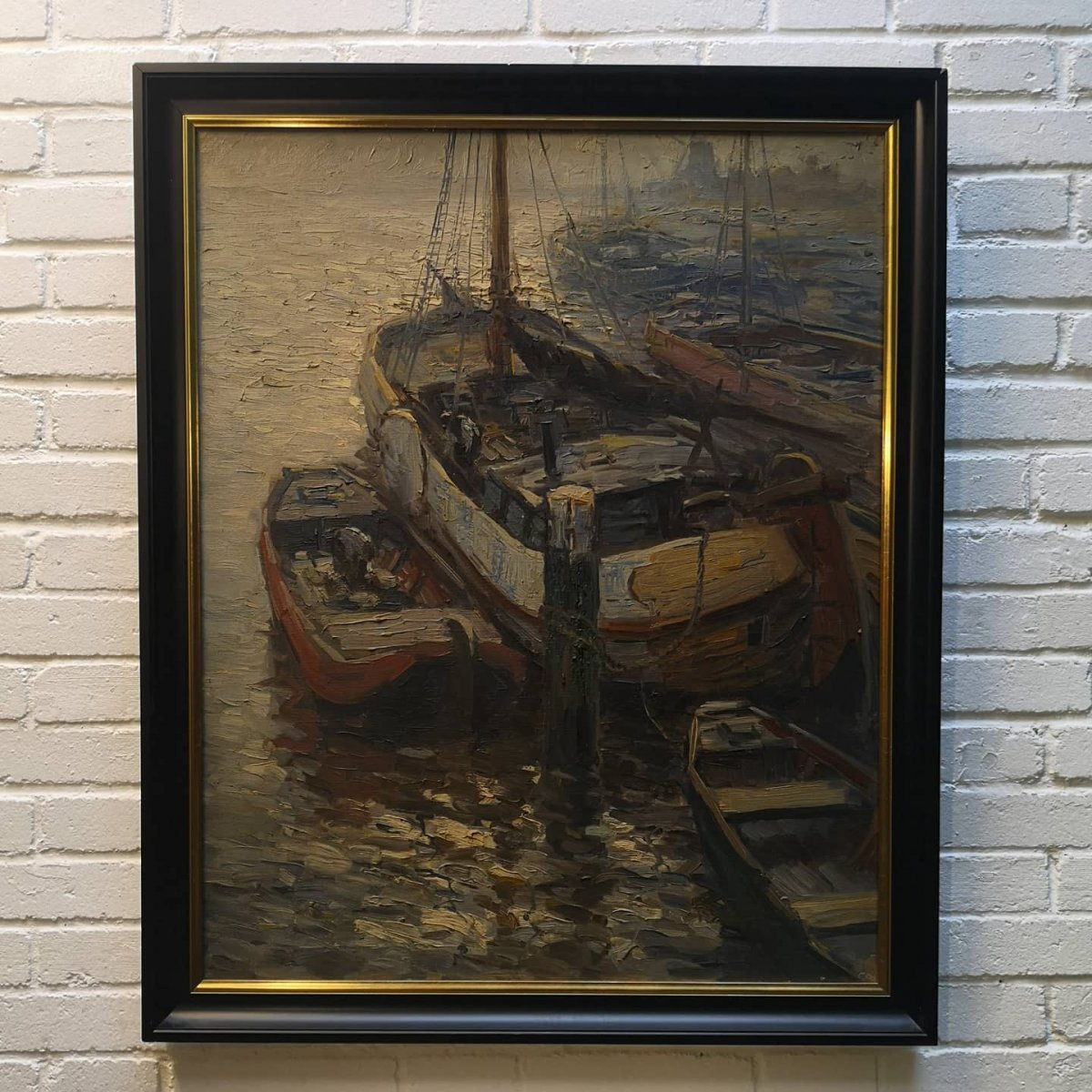 """""""boats In The Harbor"""" By Kees Terlouw"""