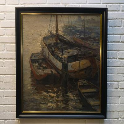 """boats In The Harbor"" By Kees Terlouw"