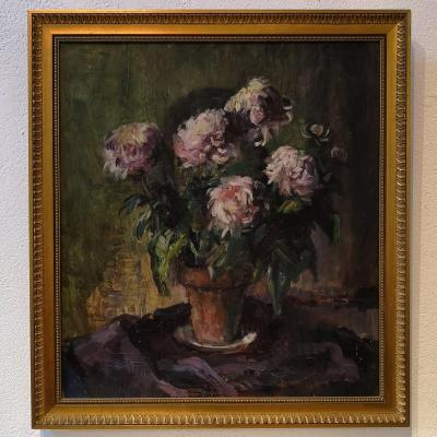 Still Life With A Bouquet Of Peonies