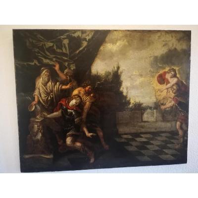 Grande Peinture Sur Cuivre XVII ème Siecle
