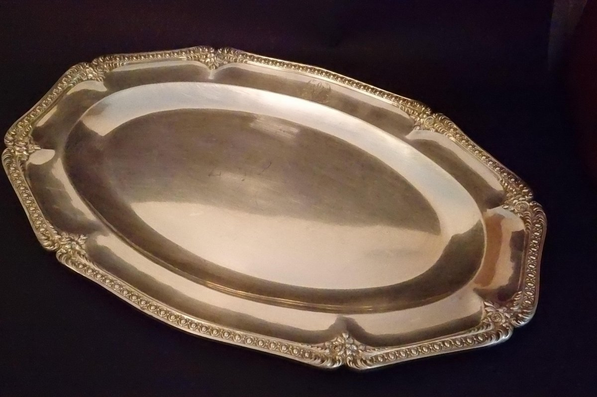 Silverplate Dish- Work Of Christofle And Froment - Meurice.