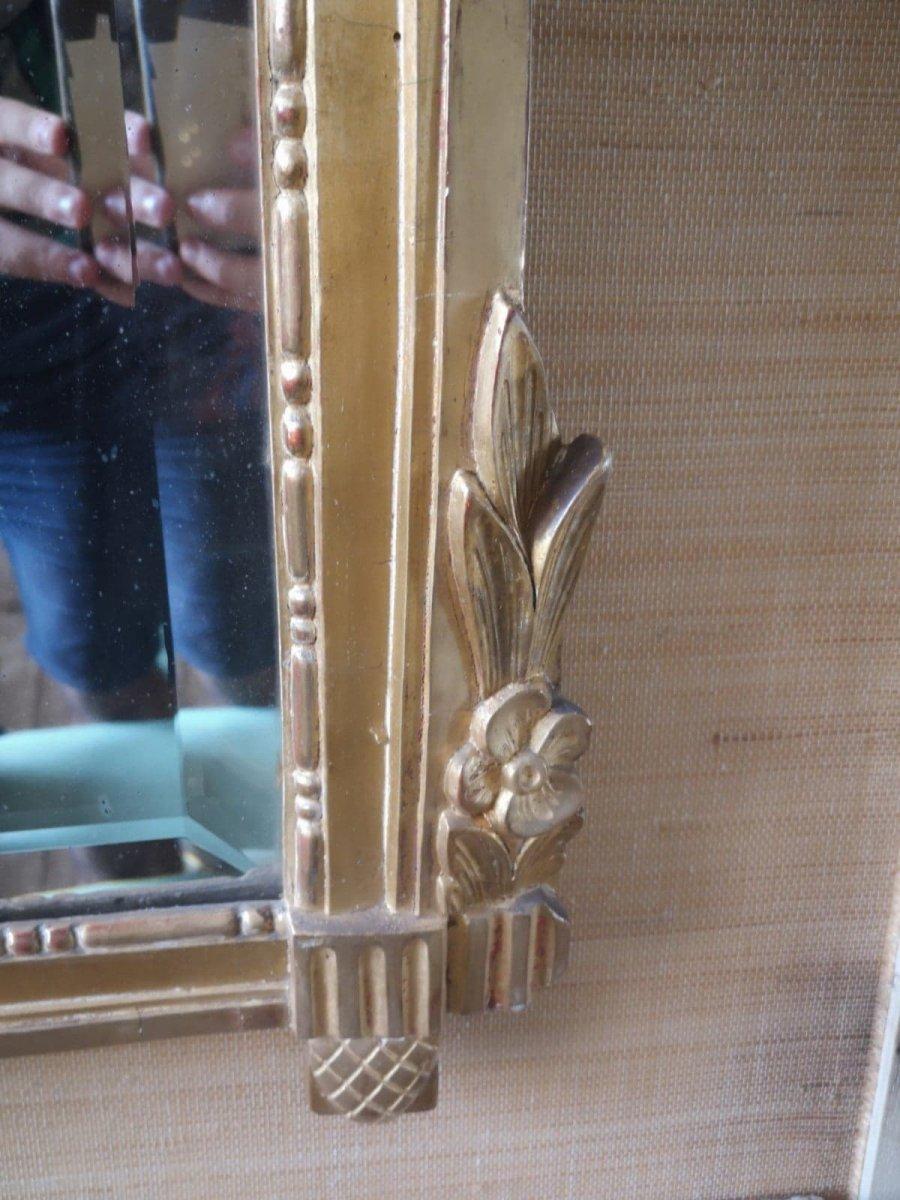 Miroir- Louis XVI- Portrait Ovale- XVIII Es.-photo-3