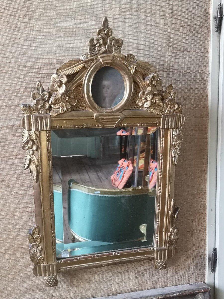 Miroir- Louis XVI- Portrait Ovale- XVIII Es.
