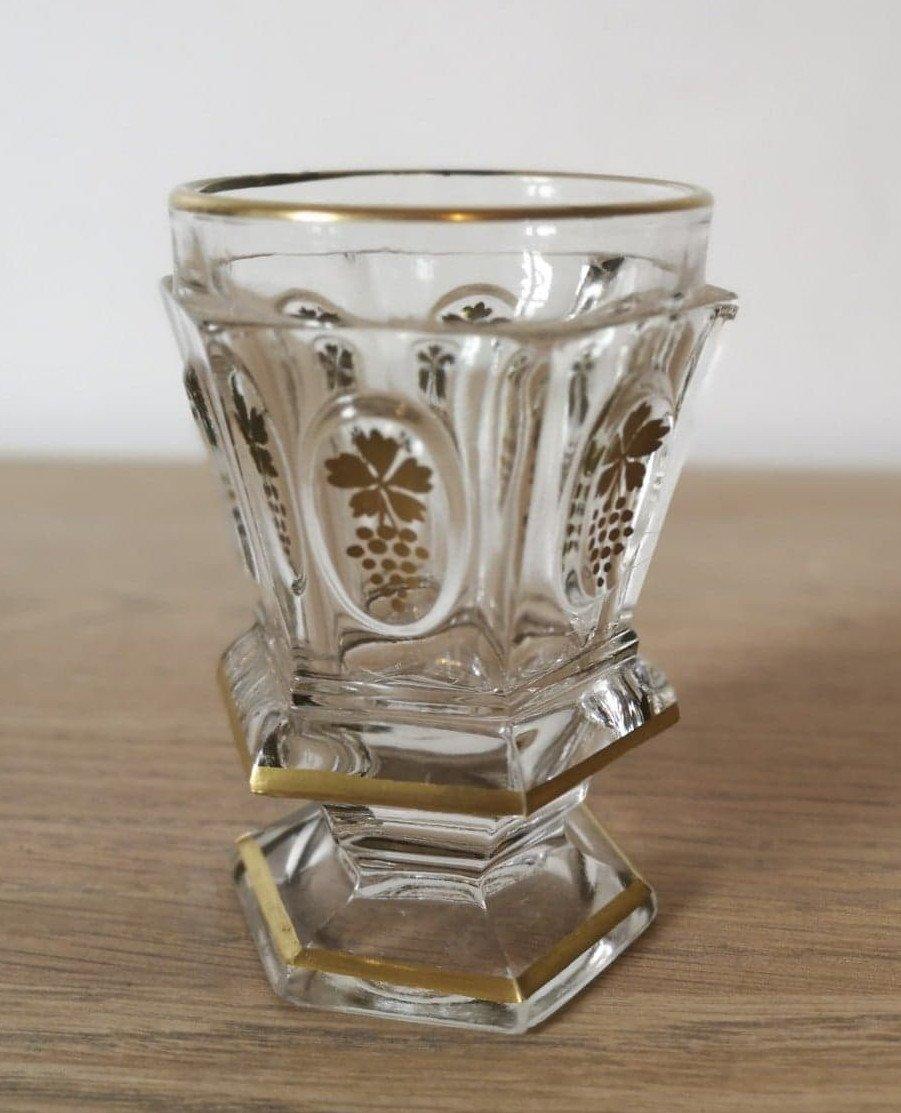 Verre- Gobelet- Cristal- Charles X- XIX E S.