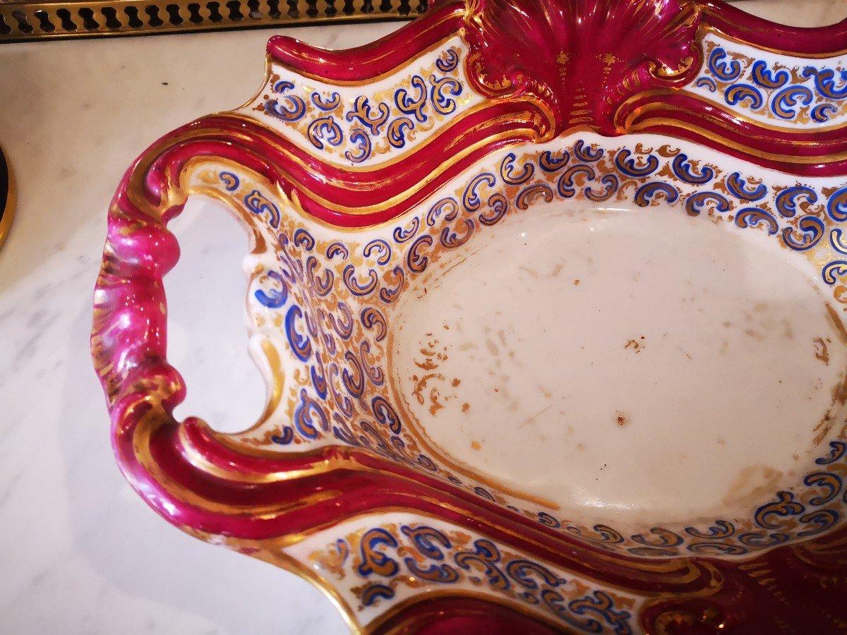 Aiguière Et Son Bassin-porcelaine De Paris-vierge à La Chaise-xixe S. -photo-1