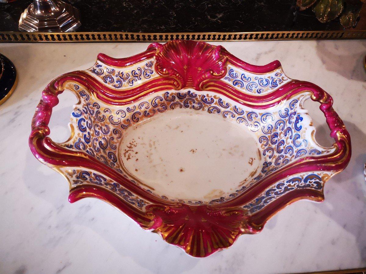 Aiguière Et Son Bassin-porcelaine De Paris-vierge à La Chaise-xixe S. -photo-3