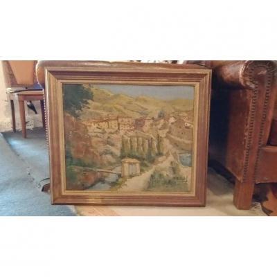 Oil On Cardboard- Pierre Billard (1900-1971) - Around 1940.