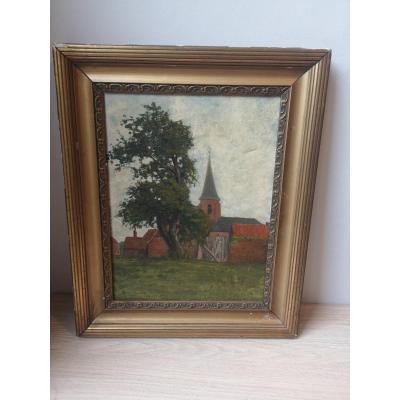 Oil On Canvas- Country Landscape- 1912- Georges De Sonneville (1889-1978)