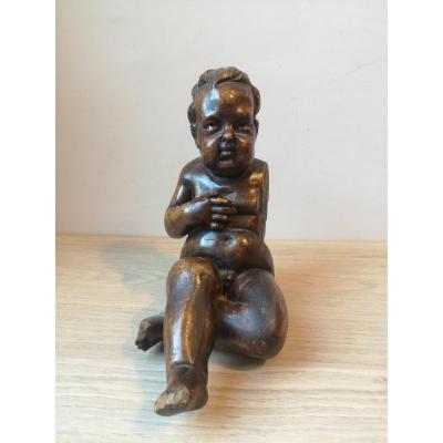 Cherubin-bois Sculpté - XVIIe S.