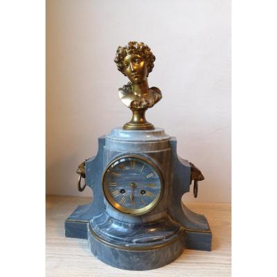 Pendulum Borne- Marble And Gilt Bronze- Japy Frères-g. Faraoni- V. 1860