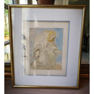 Antoine Bourdelle (after) - Prayer Of Christ- Signed Lithograph.