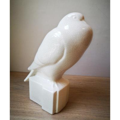 Pigeon- Craquelé Art Déco-  Longwy - Vers 1930.