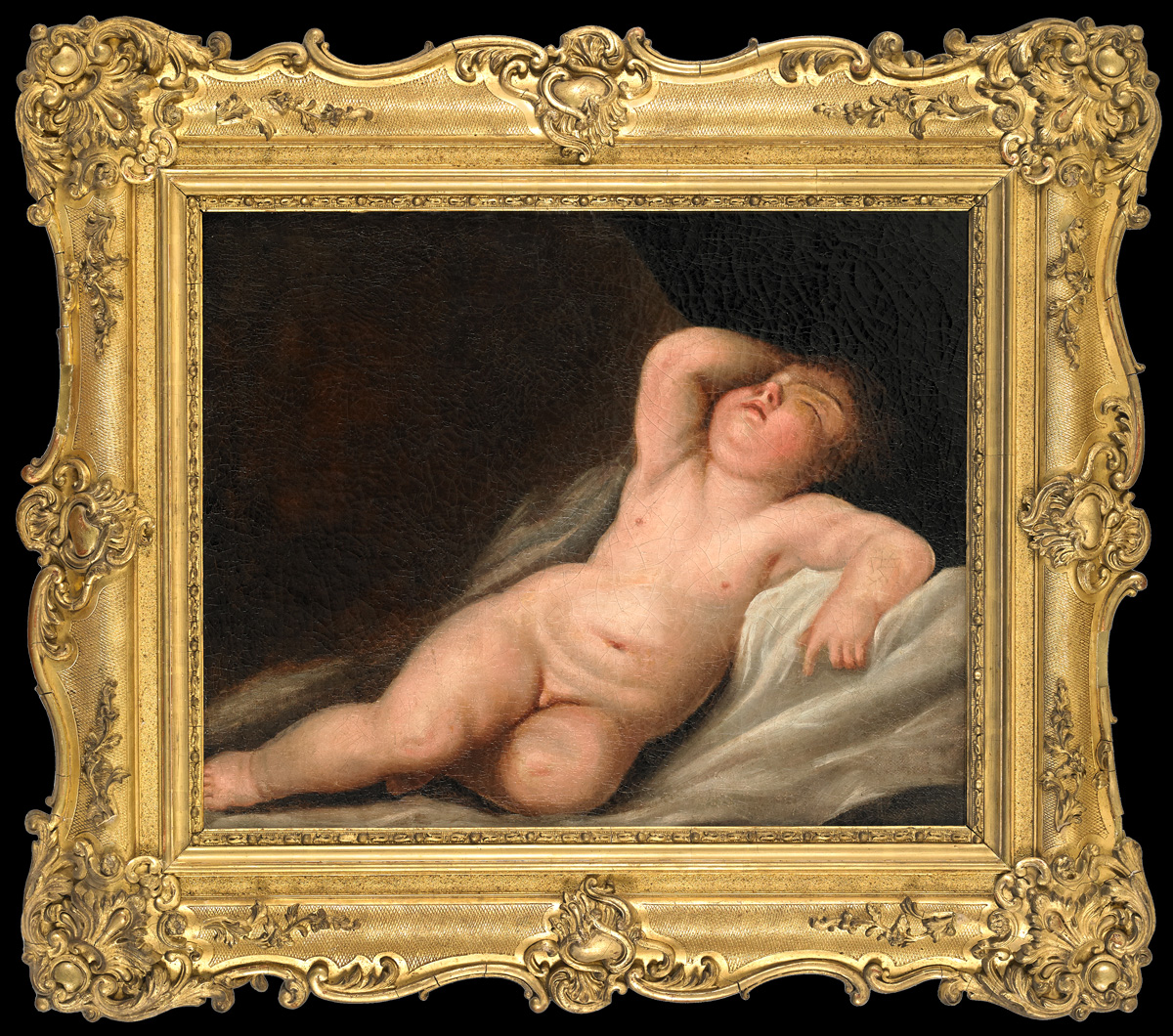 Représentation De Cupidon Dans Son Sommeil. Suiveur De Jacques-antoine Vallin