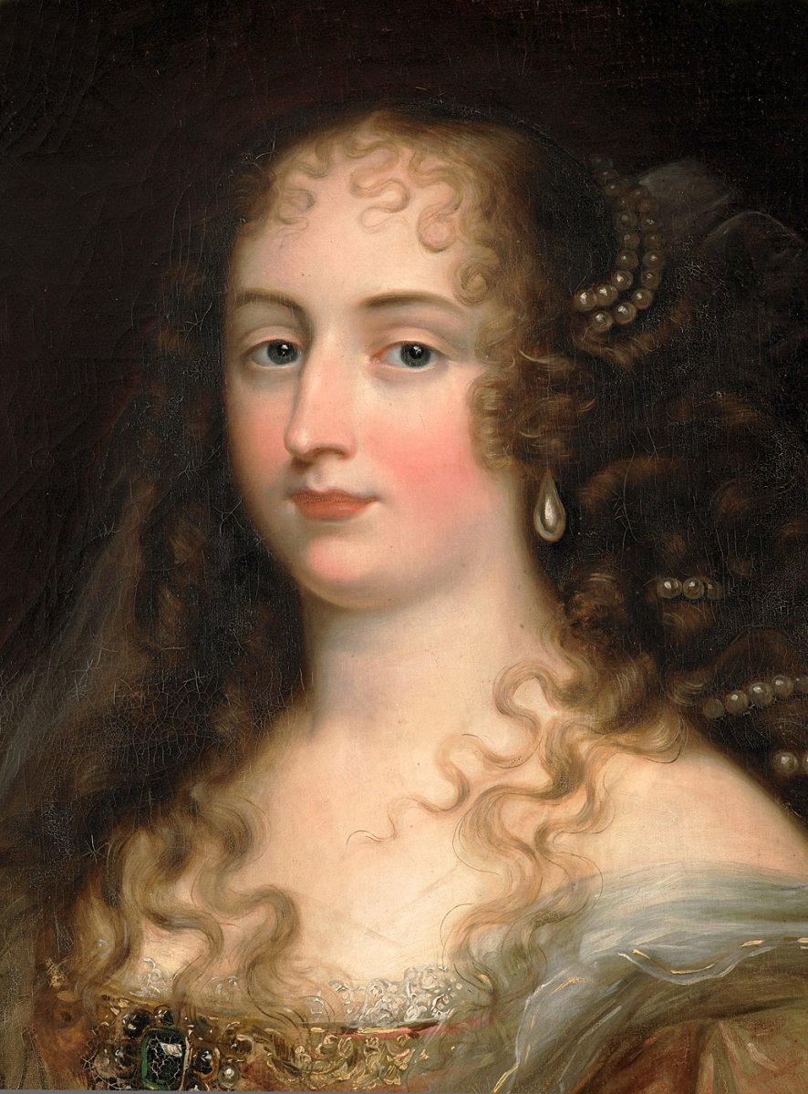 Suiveur De Justus Van Egmont - Portrait d'Une Jeune Femme Aux Perles