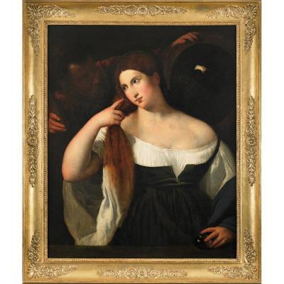 Représentation Néoclassique De La Femme Au Miroir Du Titien