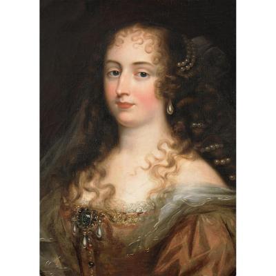 Portrait d'Une Jeune Femme Aux Perles. Suiveur De Justus Van Egmont