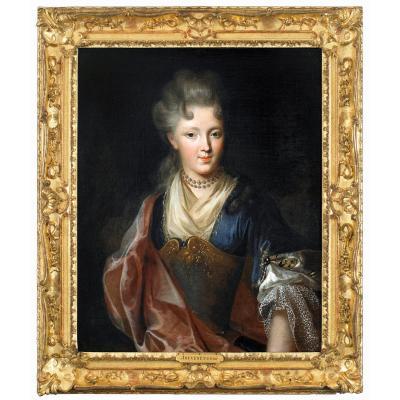 Portrait d'Une Dame De Qualité En Représentation Théatrale. Entourage De François De Troy