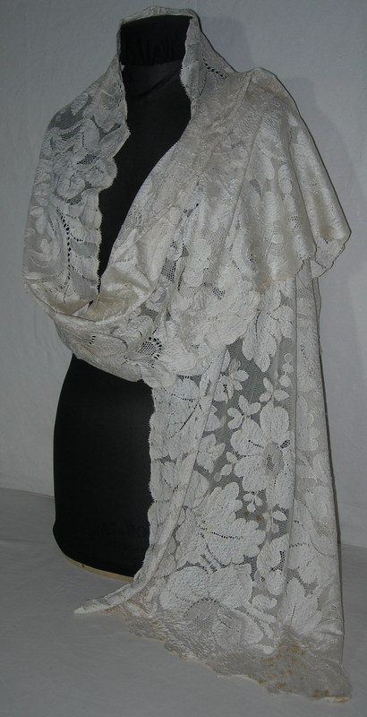 Silk Lace Stole, Blonde From Caen Circa 1920