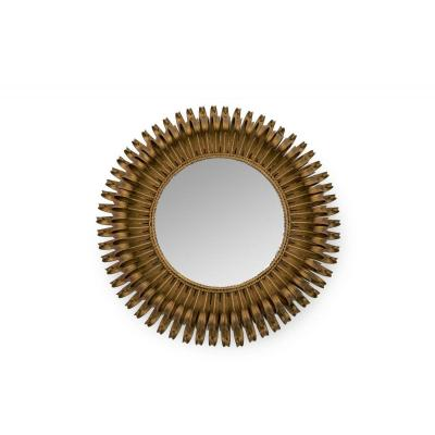 Sun Mirror In Brass, Circa 1980, France
