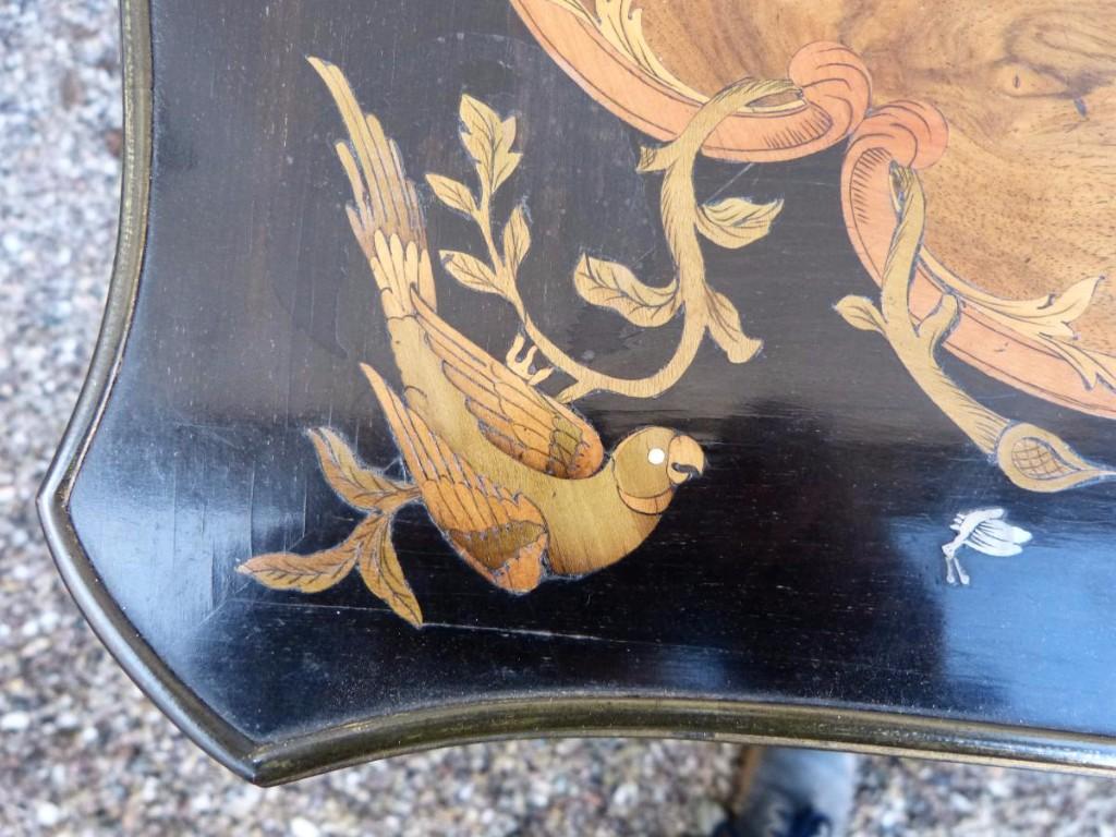 Table à Jeux Napoléon III Marqueterie Et Bronzes Dorés-photo-7