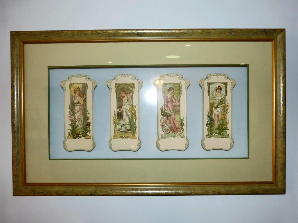 Elisabeth Sonrel, Series Of Four Art Nouveau Menus