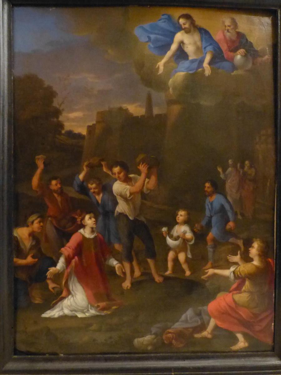Cornelis Van Poelenburgh Ecole Hollandaise 17ème Martyre De St Etienne