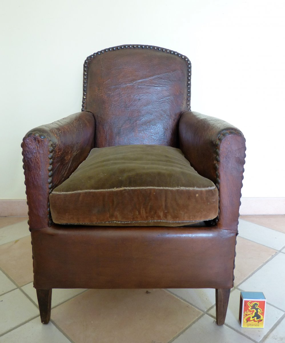 Little Armchair Club Leather Child