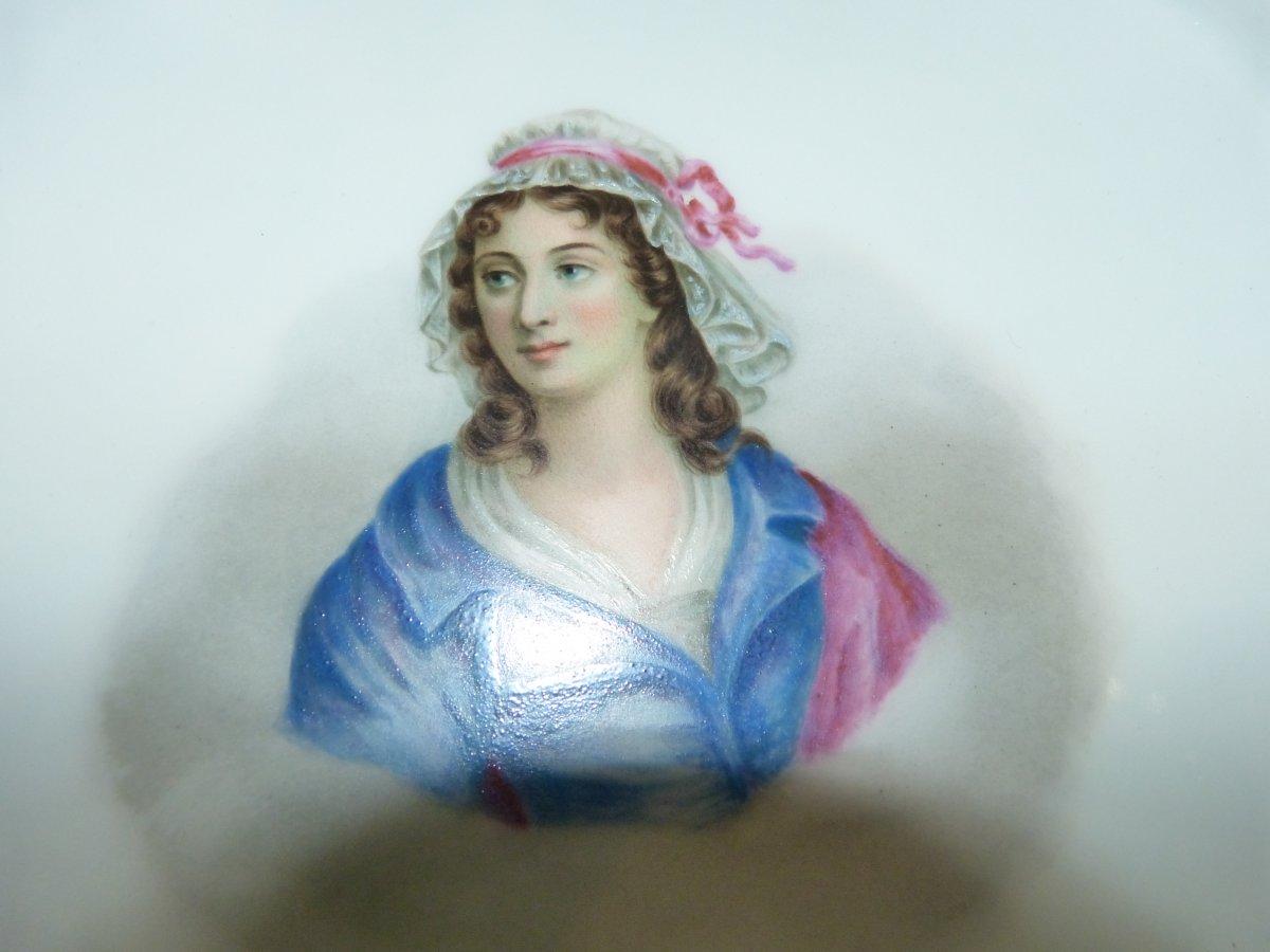 Coupe En Porcelaine De  Sèvres Montée Bronze Doré Napoléon III-photo-5