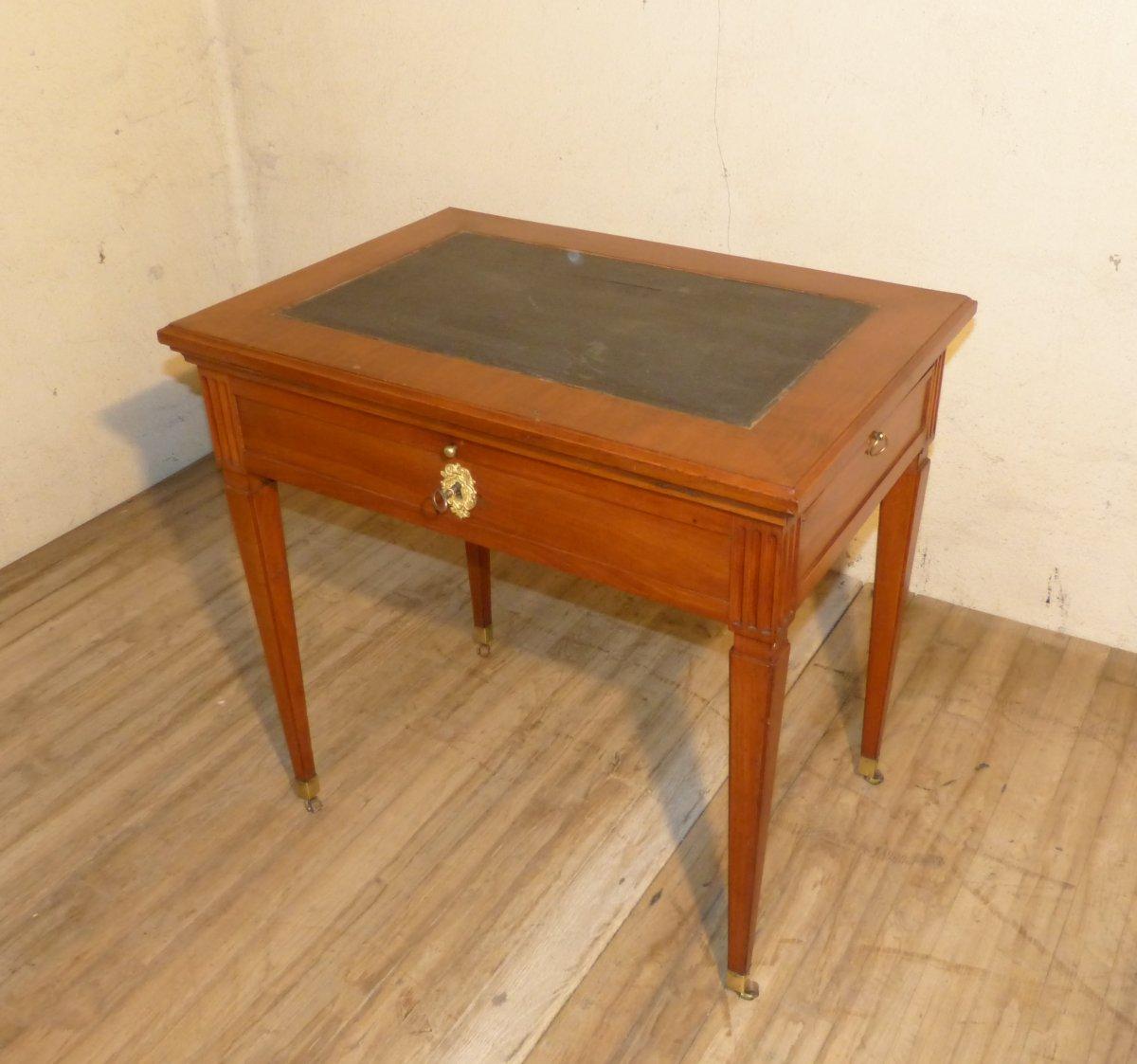 Table à La Tronchin En Merisier Epoque Louis XVI