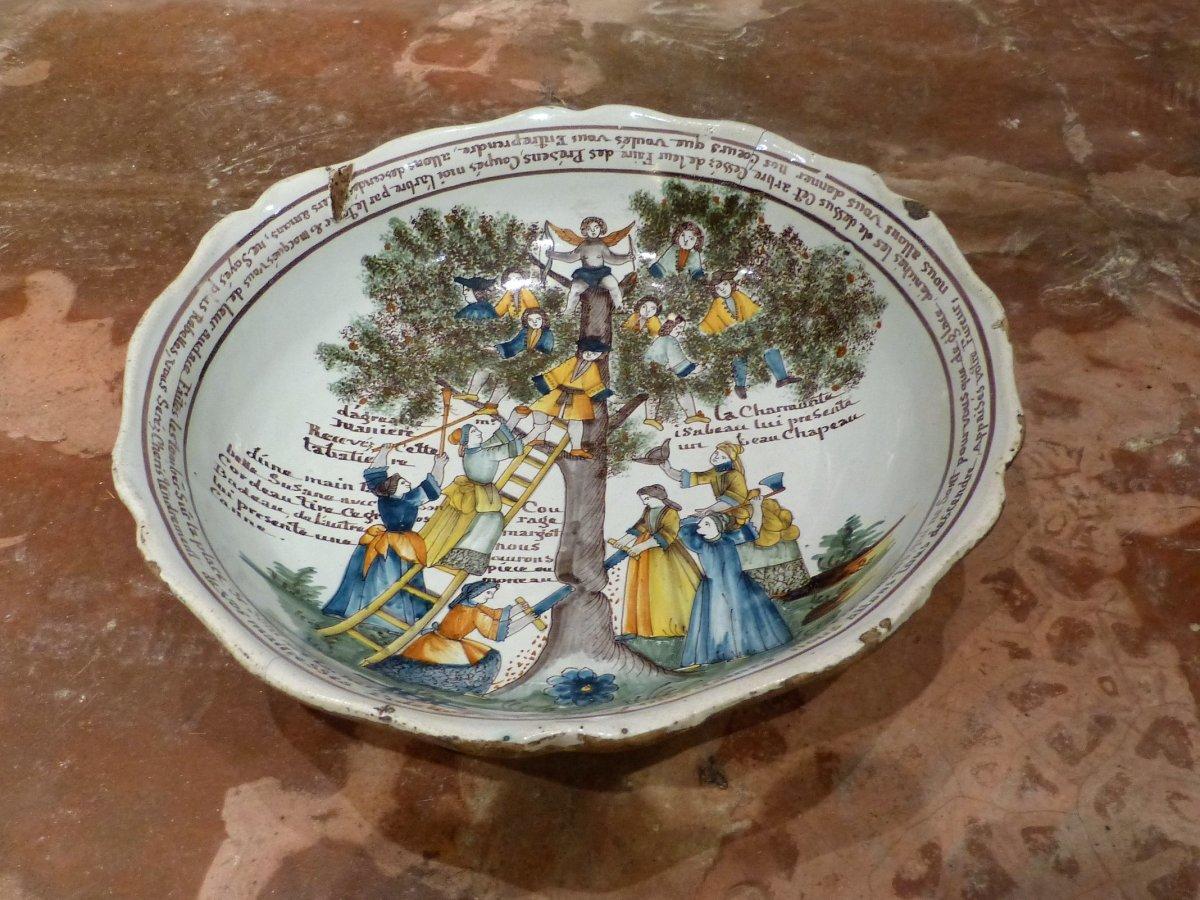 Nevers Grande Jatte à L ' Arbre d'Amour daté 1803