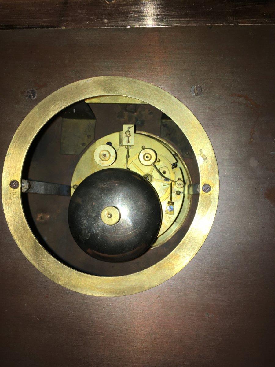 Pendule Automate Voilier près du rivage  époque 19ème-photo-6