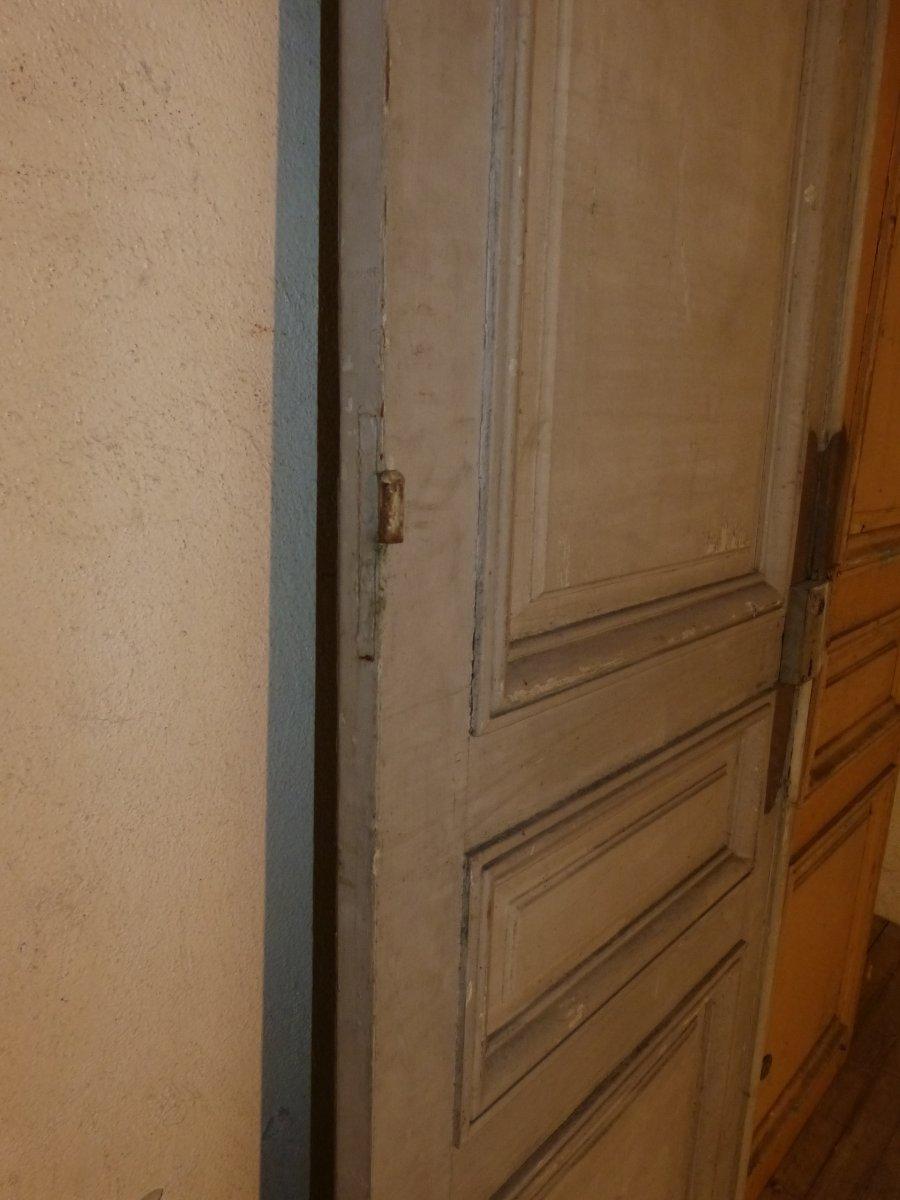 Paire De Grandes Portes à Miroirs 19ème,  244 X 75 Cm Chaque-photo-4