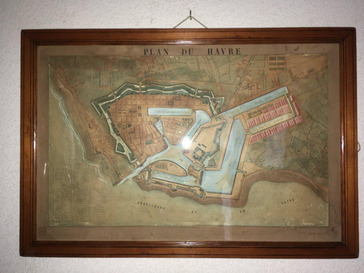 Le Havre Disparu : Plan en relief D'agrandissement Lamandé ,