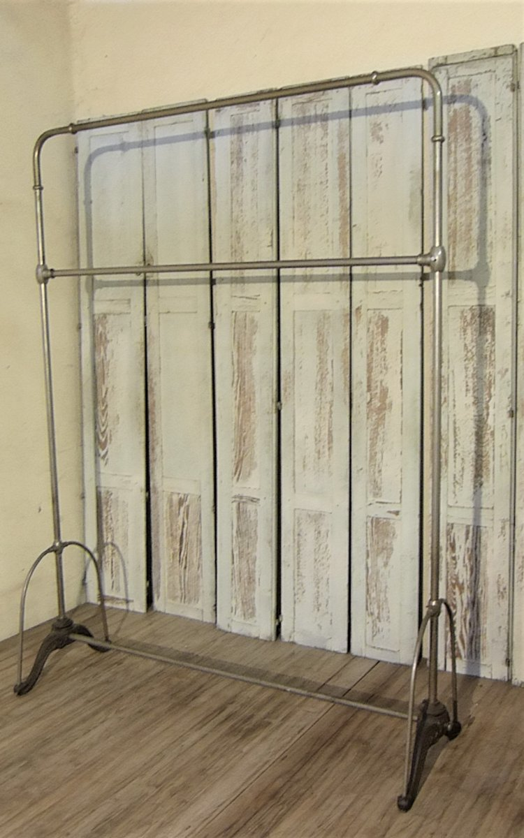 Old Clothes Rack, Cloakroom, Coat Rack In Cast Iron And Silver Bronze
