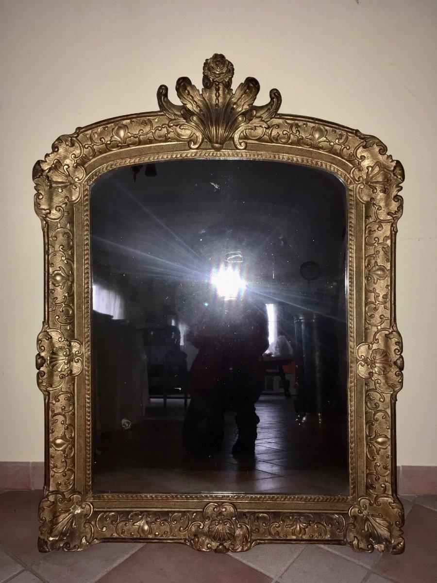 Regency Golden Wood Mirror Epoque 18 Eme, 114 X 84 Cm