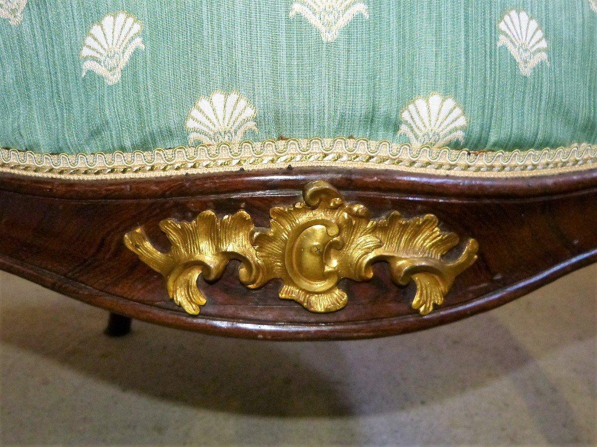 Salon En Acajou Et Bronzes Dorés  Napoléon III Attribué à Jeanselme -photo-2
