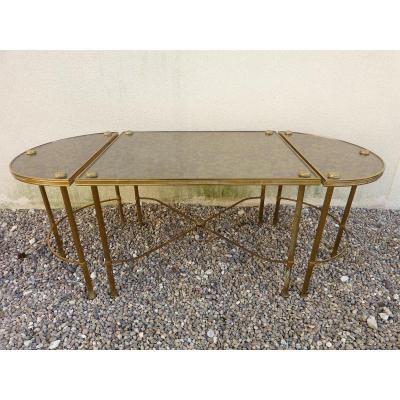Tables Basses En Trois Parties Attribuées à Maison Baguès