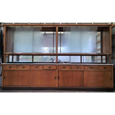 Large Store Display Cabinet Pastry 3 M 55 Long Sliding Doors