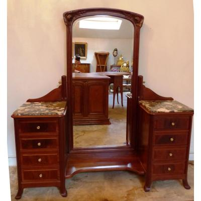 Art Nouveau Mahogany Vanity Table Louis Chambry