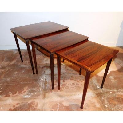 Tables Basses Gigognes Scandinaves En Palissandre