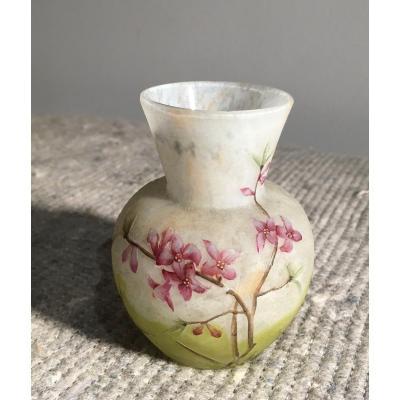 Daum Petit Vase Gravé Et émaillé