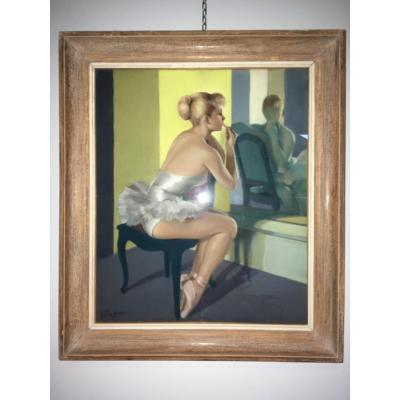 Guy Seradour, Ballerine Devant Son Miroir.