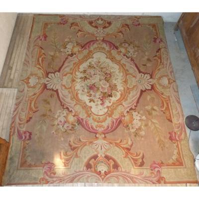Grand Tapis Aubusson Napoléon III : 321 x 277 cm