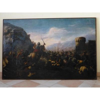 Cavalry Shock, 17th, 99 X 152 Cm, Battle Between Ottoman And Christian Army