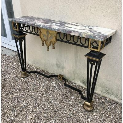 In The Taste Of Gilbert Poillerat: Wrought Iron Console Table